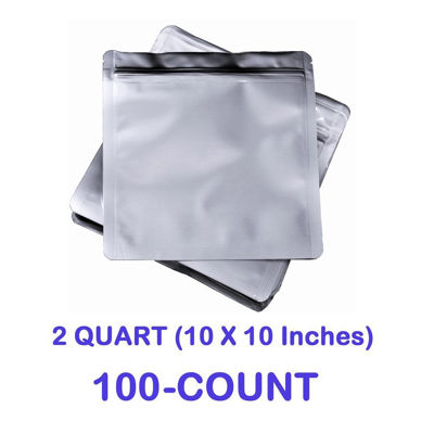 Picture of 2 Quart 7 Mil Mylar Zip Lock Bags (100-COUNT)