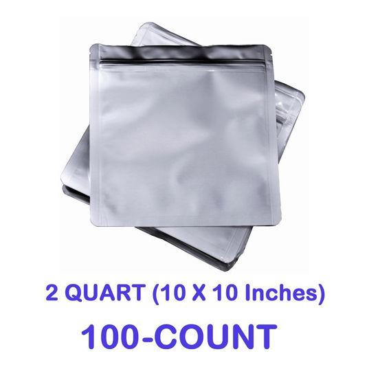 Picture of 2 Quart 7 Mil Mylar Zip Lock Bags (100-COUNT)