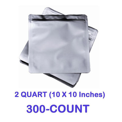 Picture of 2 Quart 7 Mil Mylar Zip Lock Bags (300-COUNT)