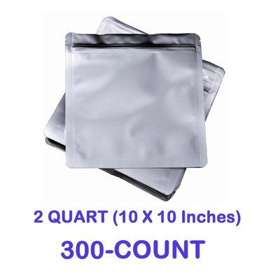 Picture of 2 Quart 7 Mil Mylar Zip Lock Bags (300-COUNT)