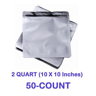 Picture of 2 Quart 7 Mil Mylar Zip Lock Bags (50-COUNT)