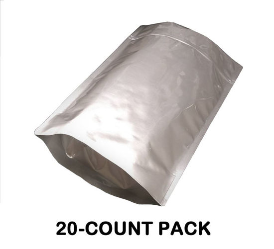 Picture of 2.5 Gallon 7-MIL Gusseted Zip Lock Mylar Bags (20-COUNT)
