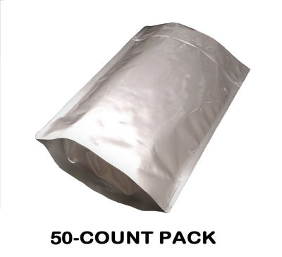 Picture of 2.5 Gallon 7-MIL Gusseted Zip Lock Mylar Bags (50-COUNT)