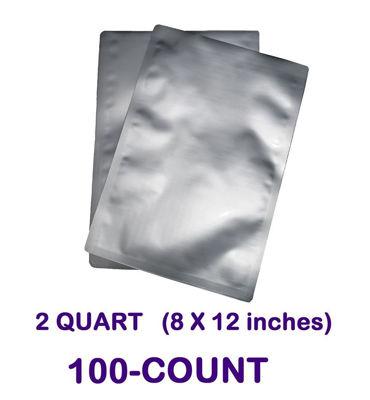 Picture of 2 Quart  7-Mil Standard Mylar Bag (100-COUNT)