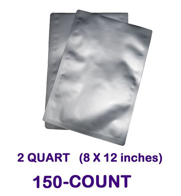 Picture of 2 Quart 7-Mil Standard Mylar Bag (150-COUNT)