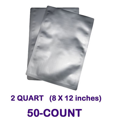 Picture of 2 Quart 7-Mil Standard Mylar Bag (50-COUNT)