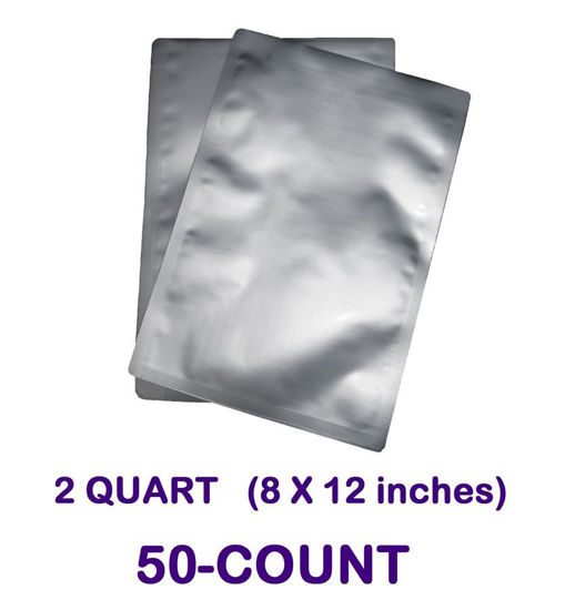 Picture of 2 Quart 7-Mil Standard Mylar Bag (50-COUNT)