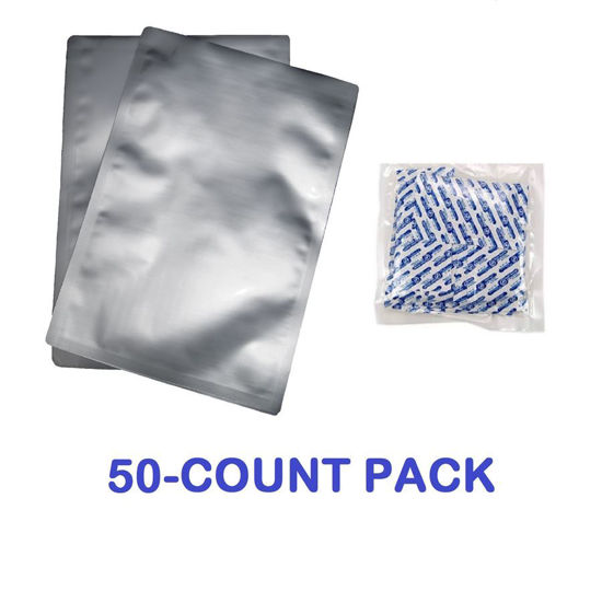 Picture of 2 Quart 7-Mil Standard Mylar Bags plus 300 CC Oxygen Absorbers (50-COUNT)