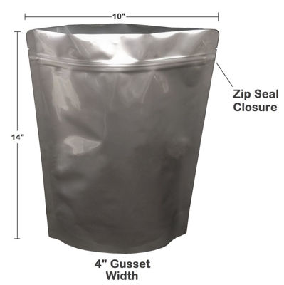 Picture of 1 Gallon 7-Mil Gusseted Zip Lock Mylar Bag