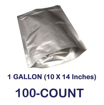 Picture of 1 Gallon 7-Mil Gusseted Zip Lock Mylar Bag (100-COUNT)