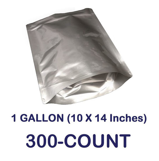 Picture of 1 Gallon 7-Mil Gusseted Zip Lock Mylar Bag (300-COUNT)
