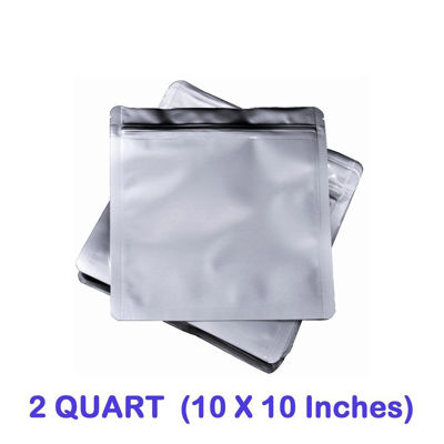 Picture of 2 Quart 7 Mil Mylar Zip Lock Bags