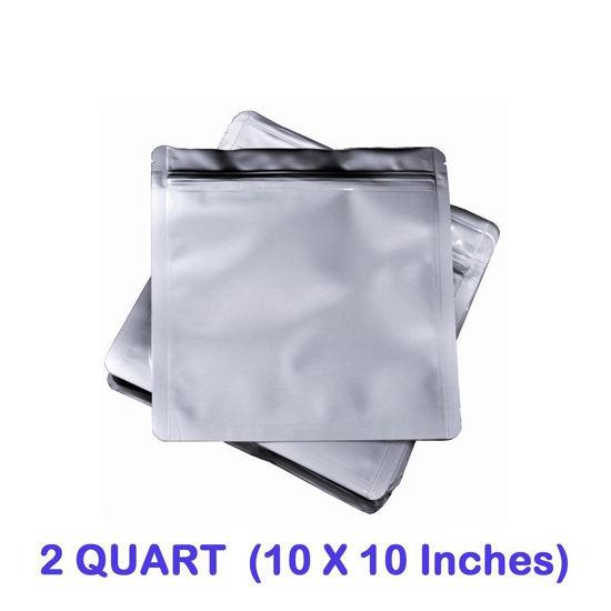 Picture of 2 Quart 7 Mil Mylar Zip Lock Bags