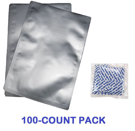 Picture of 1 Gallon 7-Mil Standard Mylar Bag plus 300 CC Oxygen Absorbers (100-COUNT)