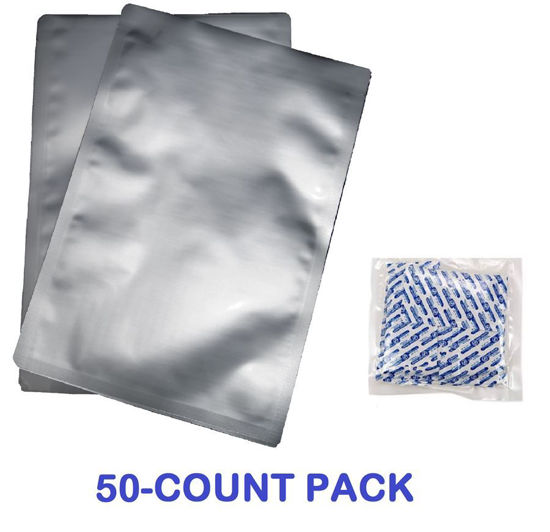 Picture of 1 Gallon 7-Mil Standard Mylar Bag plus 300 CC Oxygen Absorbers (50-COUNT)