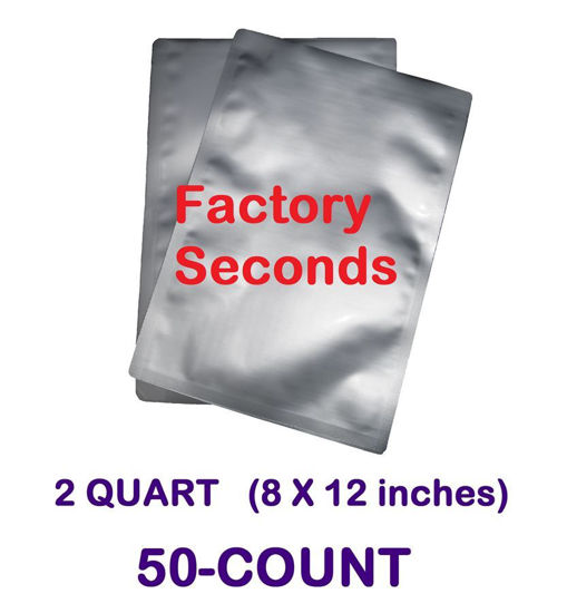 Picture of DISCOUNTED 2 Quart 7-Mil Standard Mylar Bag (50-COUNT)