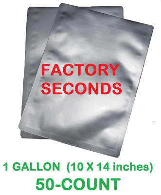 Picture of DISCOUNTED 1 Gallon 7-Mil Standard Mylar Bag (50-COUNT)