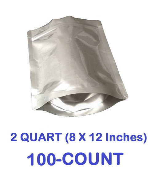 Picture of 2 Quart 7-Mil Gusseted Zip Lock Mylar Bag (100-COUNT)