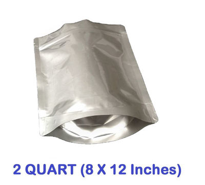 Picture of 2 Quart 7-Mil Gusseted Zip Lock Mylar Bag