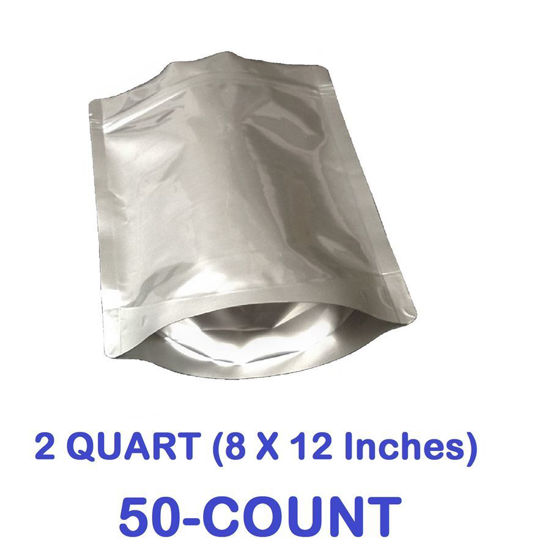Picture of 2 Quart 7-Mil Gusseted Zip Lock Mylar Bag (50-COUNT)