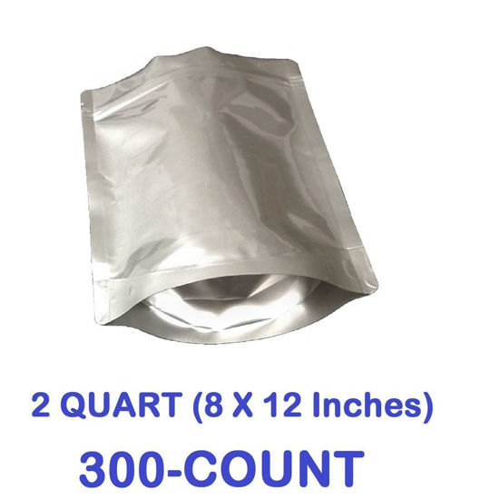 Picture of 2 Quart 7-Mil Gusseted Zip Lock Mylar Bag (300-COUNT)