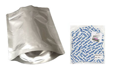 Picture of 2 Quart 7-Mil Gusseted Zip Lock Mylar Bag plus 300 CC Oxygen Absorbers