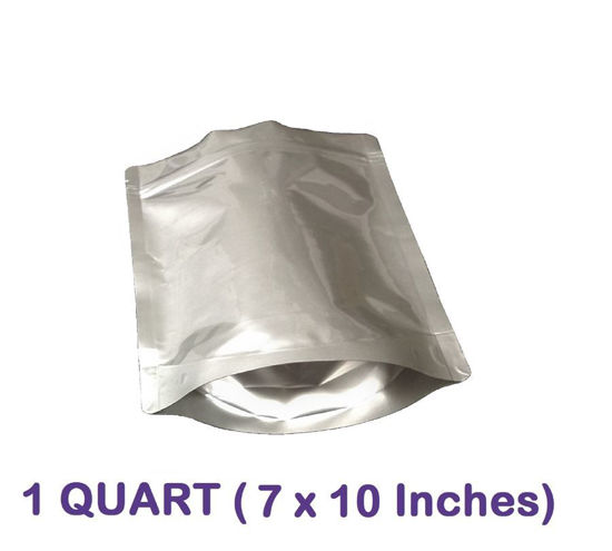 Picture of 1 Quart 7-Mil Gusseted Zip Lock Mylar Bag