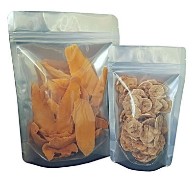 Picture of 1 Quart 7-Mil CLEAR FRONT Gusseted Zip Lock Mylar Bag