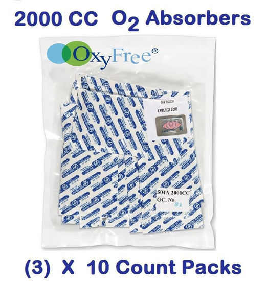 Picture of 2000 CC O2 Absorbers   (3) - 10 Count Packs