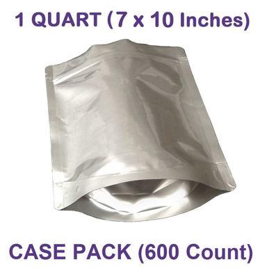 Picture of 2 Quart 7-Mil Gusseted Zip Lock Mylar Bag (BULK-CASE)