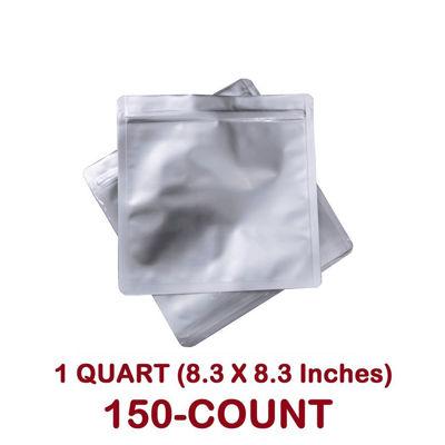 Picture of 1 Quart 7 Mil Mylar Zip Lock Bags (150-COUNT)
