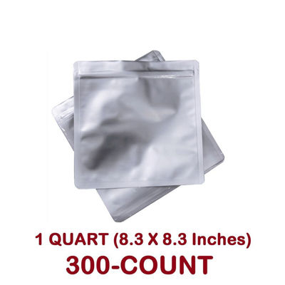 Picture of 1 Quart 7 Mil Mylar Zip Lock Bags (300-COUNT)