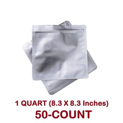 Picture of 1 Quart 7 Mil Mylar Zip Lock Bags (50-COUNT)