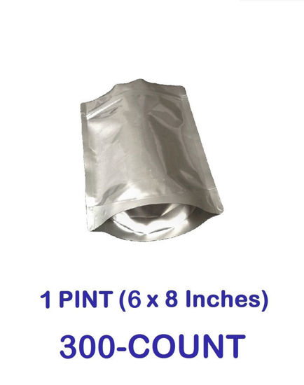Picture of 1 Pint 7-Mil Gusseted Zip Lock Mylar Bag (300-COUNT)