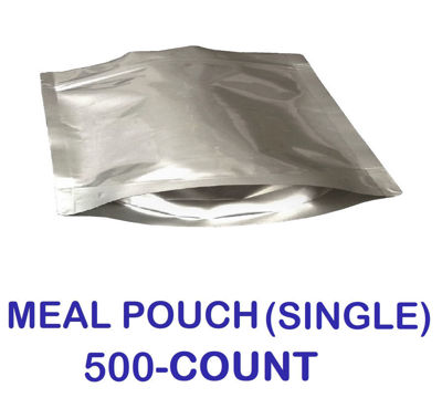 Picture of SINGLE MEAL POUCH 7-Mil Gusseted Zip Lock Mylar Bag (BULK-CASE)