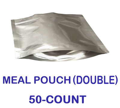 Picture of DOUBLE MEAL POUCH 7-Mil Gusseted Zip Lock Mylar Bag (50-COUNT)