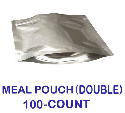 Picture of DOUBLE MEAL POUCH 7-Mil Gusseted Zip Lock Mylar Bag (100-COUNT)