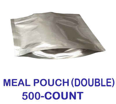 Picture of DOUBLE MEAL POUCH 7-Mil Gusseted Zip Lock Mylar Bag (BULK-CASE)