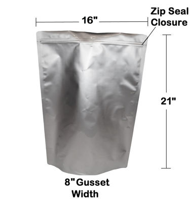 Picture of 5 Gallon 7-Mil Gusseted Zip Seal Mylar Bag plus 2000 CC Oxygen Absorbers