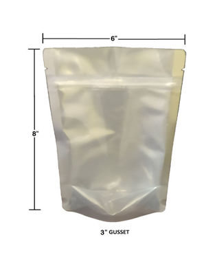 Picture of 1 Pint 7-Mil CLEAR FRONT Gusseted Zip Lock Mylar Bag