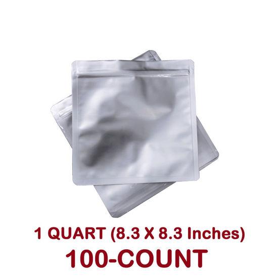 Picture of 1 Quart 7 Mil Mylar Zip Lock Bags (100-COUNT)