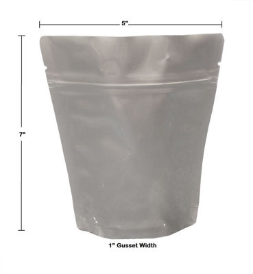 Picture of 1 CUP (1/2 PINT) 7-Mil Gusseted Zip Lock Mylar Bag