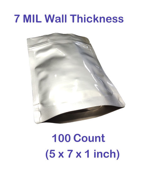 Picture of 1 CUP (1/2 Pint) 7-Mil Gusseted Zip Lock Mylar Bag (100-COUNT)
