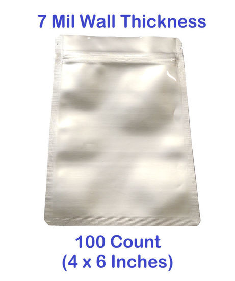 Picture of SMALL 7 Mil Mylar Zip Lock Bags (100-COUNT)