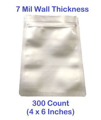 Picture of SMALL 7 Mil Mylar Zip Lock Bags (300-COUNT)