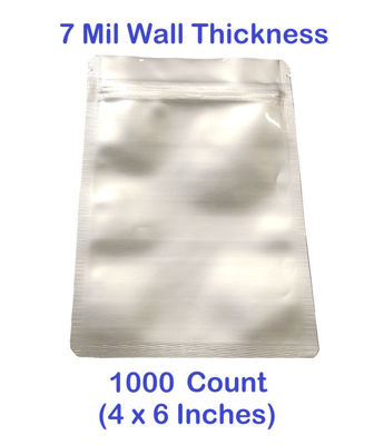 Picture of SMALL 7 Mil Mylar Zip Lock Bags (BULK-CASE) (1,000)